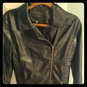 True Religion womens leather jacket